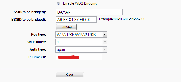 Enable WDS Bridging