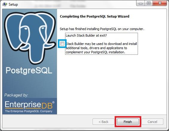 Install PostgreSQL-9